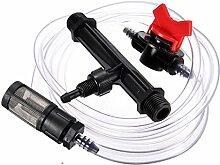 wishfive 3/10,2cm Bewässerung Venturi Dünger Injektoren Gerät Filter-Set Tube