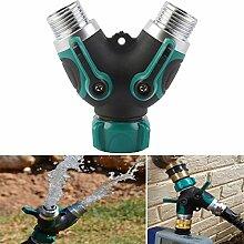 wishfive 3/10,2cm Gartenschlauch 2Wege Splitter Ventil Wasser Rohr, Wasserhahn-Stecker US Standard Gewinde