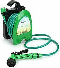 wishfive 32ft tragbar mini Wasser Schlauchwagen Garten Bewässerung Auto waschen Schlauch Aufbewahrung Holder Ki