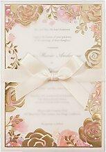 WISHMADE 50 Blumen Hochzeit Geburtstag Baby Dusche