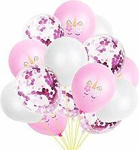 Wisilan Luftballon-Set, Einhorn,