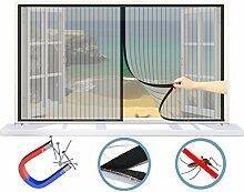 WISKEO Fenster Fliegengitter Rollo Magnet