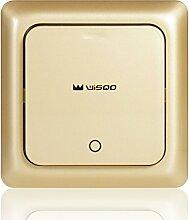 WisQo Kabelloses Lichtschalter | Fügen Sie Ihrem Licht Einfach Einen Schalter Hinzu | Vermeiden Sie sich das Ziselieren von Kabeln in die Wand | Spart Kosten und Zeit.