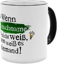 Wissen - Personalisierter Kaffeebecher (Farbe: