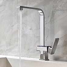 Witsinhome Chrom Küche Armatur Küchenarmatur Kupfer Wasserhahn für Warm-Kaltwasser