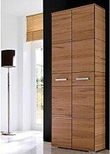 Wittenbreder Massello 500 Kleiderschrank für Flur und Garderobe Schrank in Kernbuche massiv Glatt und Sägerauh