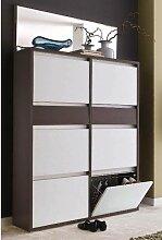 Wittenbreder Merano Muchele Schuh-Klappschrank 320 für Flur und Garderobe mit oder ohne Spiegel