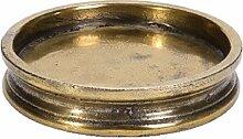 Wittkemper Living 10334520 Kerzenteller Gold