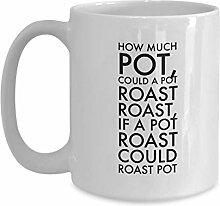 Witzige Tasse Wie viel Topf könnte ein Topf