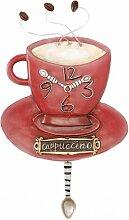 Witzige Wanduhr, Pendeluhr Cappuccino Cup Clock P8022