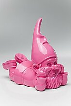 Witziger Gartenzwerg Gnom Chill out KARE pink