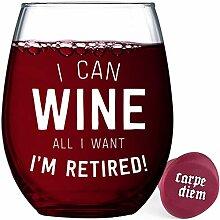 Witziges Weinglas für Damen und Herren I'm