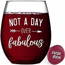 Witziges Weinglas für Damen und Herren Not A Day