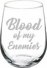 "Witziges Weinglas, Kelchglas ""Blood Of My"