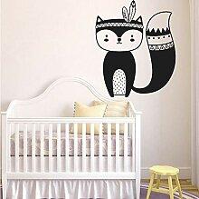 Wiwhy Tribal Fox Kinderzimmer Wand Aufkleber