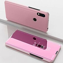 WIWJ Clear View Standing Cover für Huawei Y6 2019
