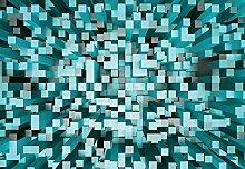 Wizard + Genius 5001-4P-1 Fototapete 3D Squares,