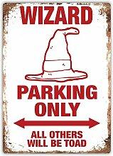 Wizard Parking Only–Metall Wandschild