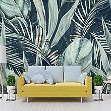WJbxx Tropische Blumen-Schlafzimmer-Tapete für