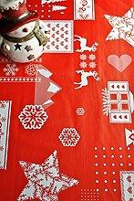WJDhome Weihnachtliche Tischdecke, mit Prägung,