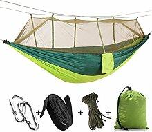 WJING Doppel-Moskitonetz Camping Hängematte,