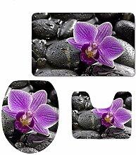 WJJS Orchideen Druck Toilettensitzbezüge