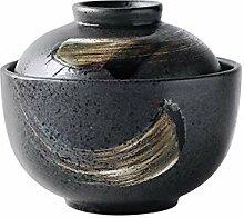 WJS Keramik handbemalte Suppentopf, Vogelnest