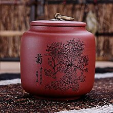 WJS Lila Sand Teedose, kann Halten 125g Tee,