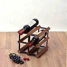 WJSXJJ Freistehende Weinflasche aus Holz Fass