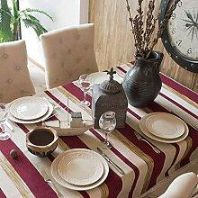 WJW Tischdecke- Einfache nordische Gestreifte
