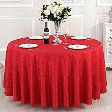 WJW Tischdecke- Runder Tisch Tischdecke Restaurant