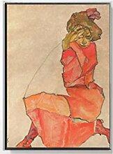 WJWGP Egon Schiele Leinwandbild Farbabgrenzung