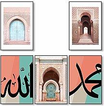 WJWGP Islamisches Plakat Hassan Ii Moschee Marokko
