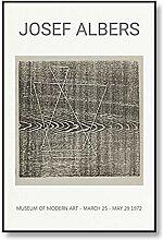 WJWGP Josef Albers Plakat Abstraktes Quadrat