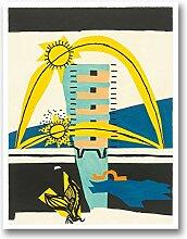 WJWGP Le Corbusier Leinwand Bild Surreale Plakat