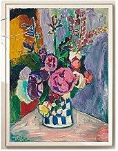 WJWGP Matisse Plakat Vintage Pfingstrosen Blume