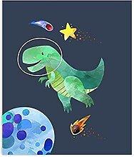 WJWGP Niedlichen Dinosaurierplakat Weltraum