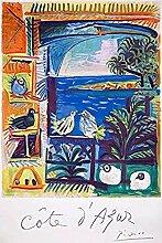 WJWGP Picasso Plakat Abstrakte Landschaft Leinwand