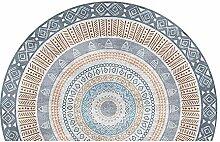 WJXBoos Persischer Stil Halbkreis Fußmatte,große