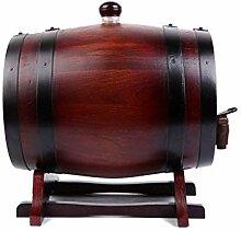 WJY Home Bar Weinglas Rack Cabinet Oak Barrel