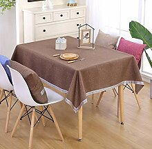 WJYdp Braune Quadratische Tischdecke Aus Baumwolle