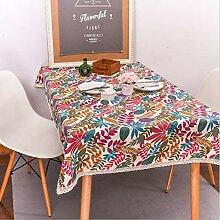 WJYdp Farbige Quadratische Tischdecke Tischdecke
