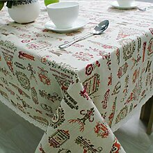 WJYdp Weihnachtliche Rechteckige Tischdecke Aus