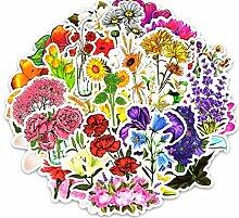 wjyoz Autoaufkleber lustig 50 Blumen blühen