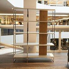 WK Wohnen | Regal-Raumteiler WK-444 Metall Holz