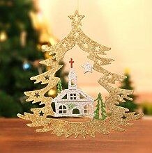 WKAIJCA Christbaumkugel Fenster Ornament