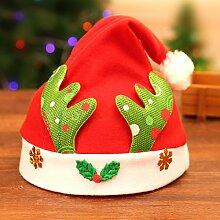 WKAIJCA Christbaumkugel Weihnachtsmütze Gold
