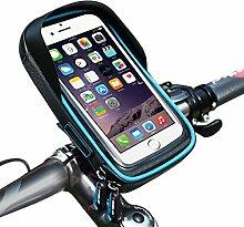 WKAIJCE Wheelup Fahrrad Handyhalter Wasserdichte Taschen Fahrradtaschen Radsporttasche Vordertaschen Navigationsbügel,Blue