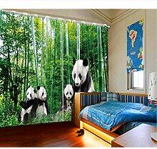 WKJHDFGB Kinder Gardinen Grün Bambus Vorhänge