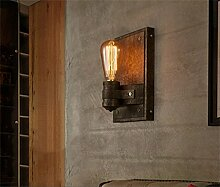 WL-ZZZ-retro / Innen- / Außenwandleuchte American Style Eisen Wand Lampe Gang Treppe Industrie Restaurant Bar Wohnzimmer Schlafzimmer Nachttischlampe Beleuchtung Leuchten ohne Lichtquelle (E27 * 1) Praktische und langlebige Lampen